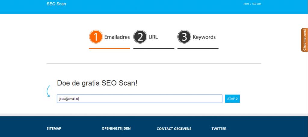 SEO scan_stap1