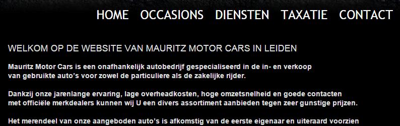Schrijven in spreektaal - autobedrijf Mauritz Motorcars